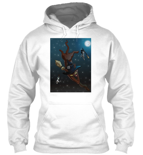 Witch Cat Apprentices   White Sweatshirt Front