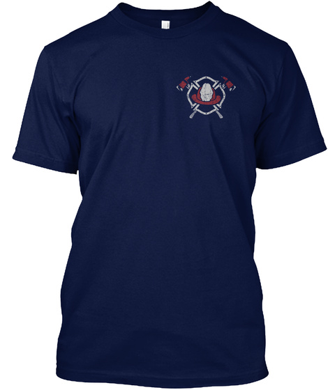 Firefighter Usa Navy Maglietta Front