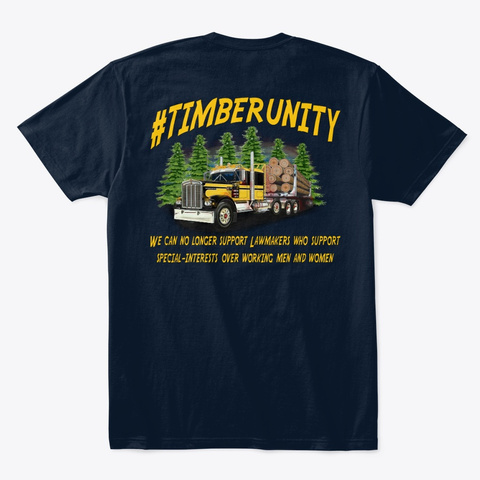 #Timberunity Style #4 New Navy T-Shirt Back