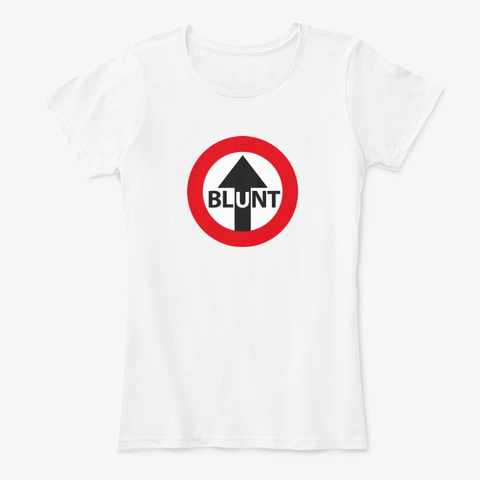 Blunt Girl Mod Arrow Tee White T-Shirt Front