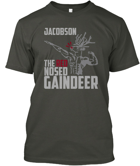 Jacobson Gaindeer Smoke Gray T-Shirt Front
