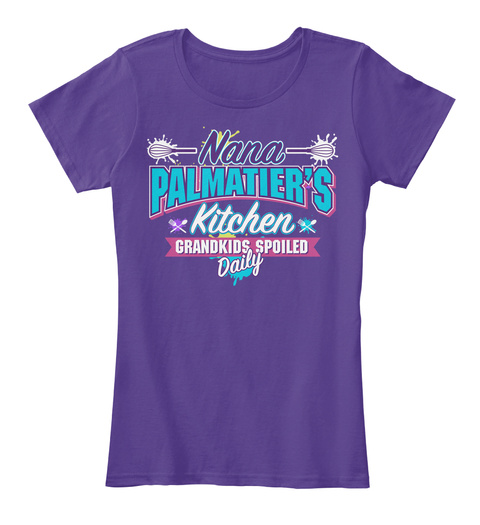 Nana Palmatier's Kitchen Purple T-Shirt Front