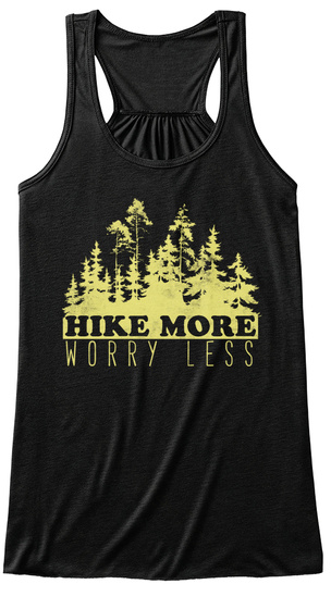 Hike More Worry Less Black Women's Tank Top Front