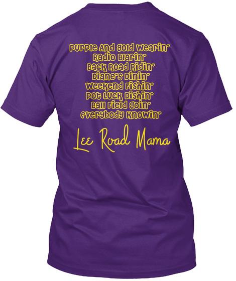 Lee Road Mama Purple T-Shirt Back