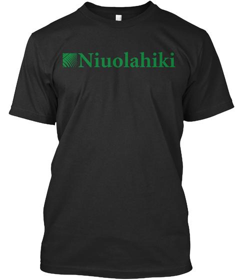 Niuolahiki Aha Panana Leo Lola Ka Olelo Hawai'i Black T-Shirt Front