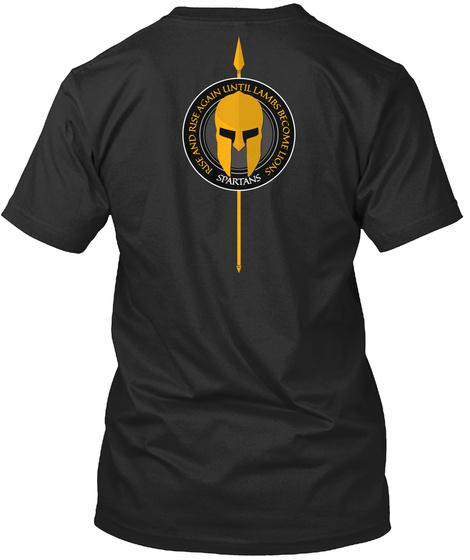Spartans   Rise 03 Black T-Shirt Back
