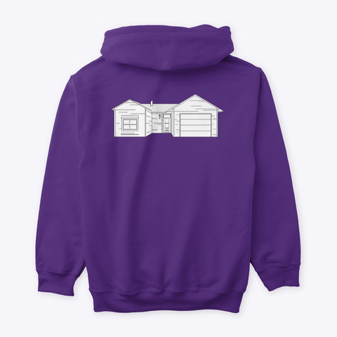 Classic Burbs Hoodie   All Colors Purple T-Shirt Back