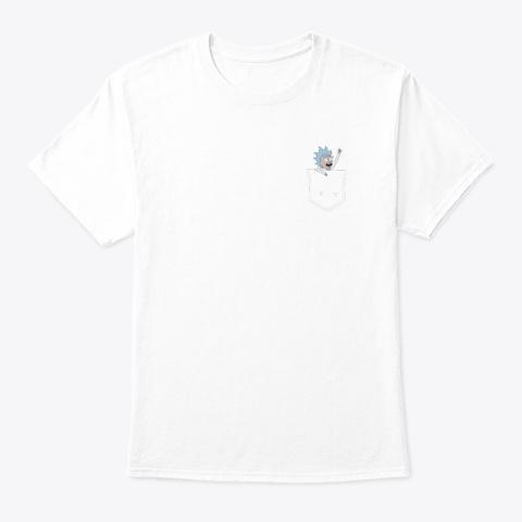 Pocket Rick White T-Shirt Front
