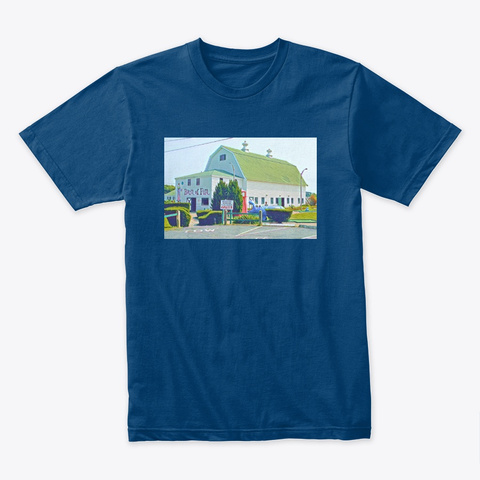 Barn Of Fun Sea View Playland Cape Cod Cool Blue T-Shirt Front