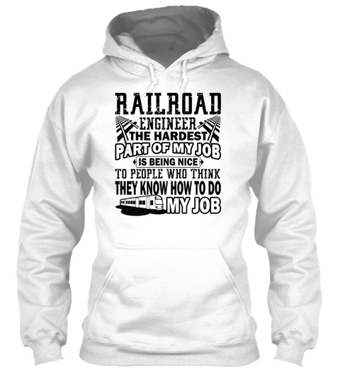 Awesome Railroad Engineer Shirt White T-Shirt Front