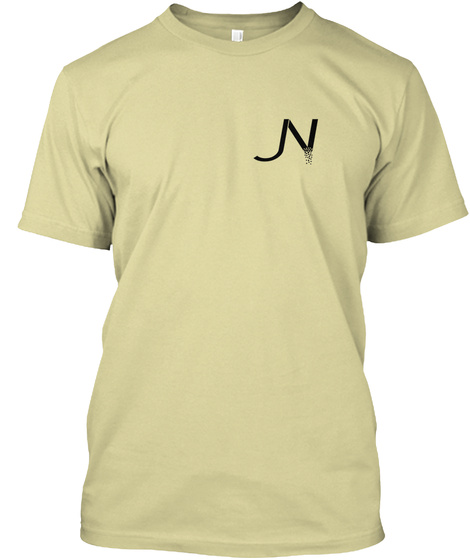 Jn Black Sands Vanilla Tee Sand T-Shirt Front