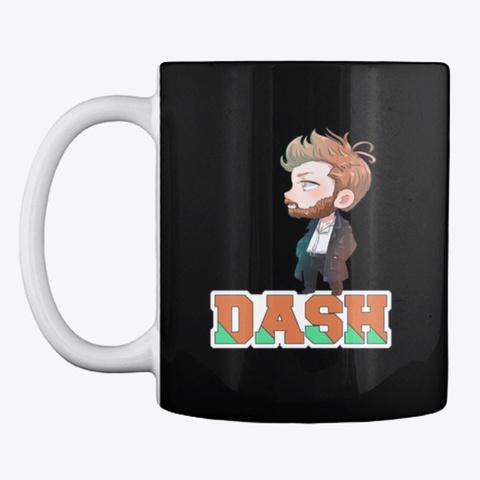 Dash Chibis. Black T-Shirt Front