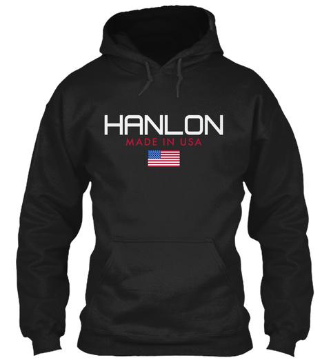Hanlon Made In Usa Black T-Shirt Front