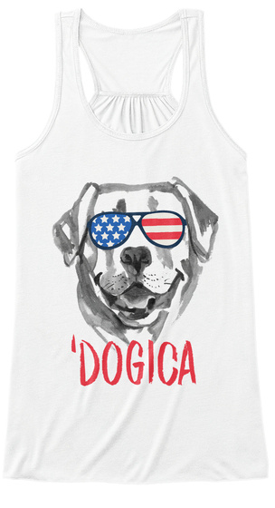 'dogica White Women's Tank Top Front