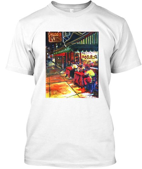 Roniea Bar.B.Q Restaurant White T-Shirt Front