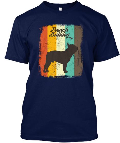 French Bulldog Navy T-Shirt Front