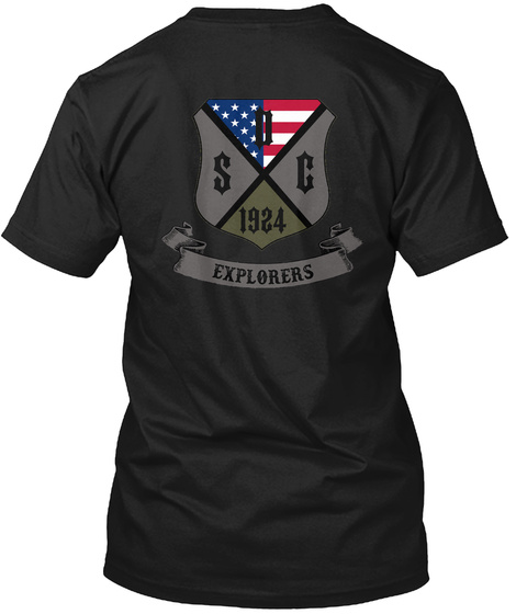 Sc 1924 Explorers Black T-Shirt Back