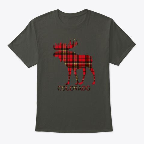Colorado Flannel Moose Smoke Gray T-Shirt Front