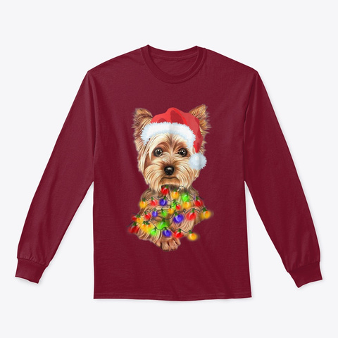 Cairn Terrier Christmas Gifts Cute Dog Cardinal Red T-Shirt Front