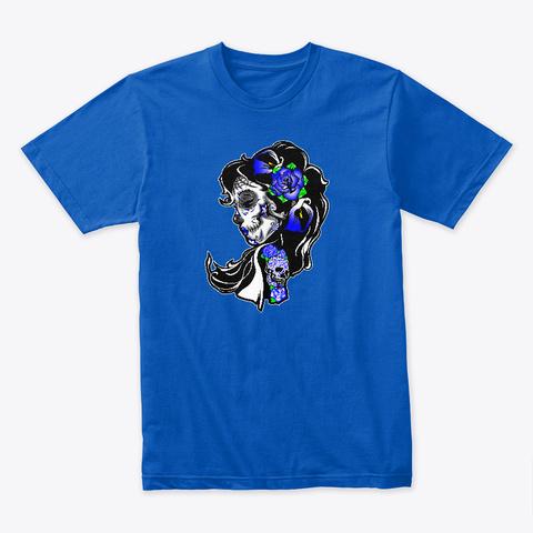 Dia De Los Muertos Blue Royal T-Shirt Front