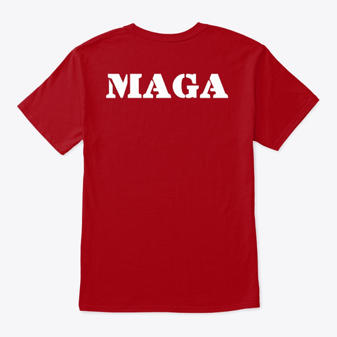 Trump 2020 Deep Red T-Shirt Back