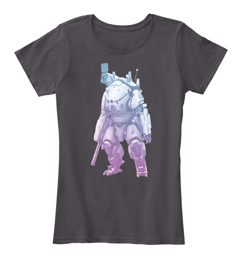 Fade Mech Heathered Charcoal  T-Shirt Front