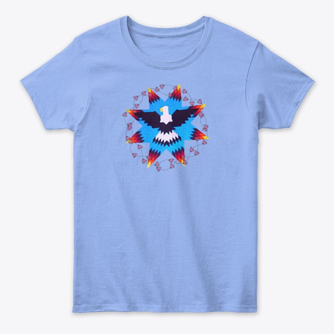 Native Starz Collection Light Blue T-Shirt Front