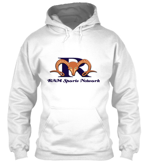Ram Sports Network White Sweatshirt Front