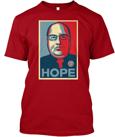 Hope Deep Red T-Shirt Front