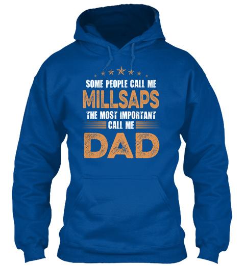 Name Millsaps Dad Royal T-Shirt Front