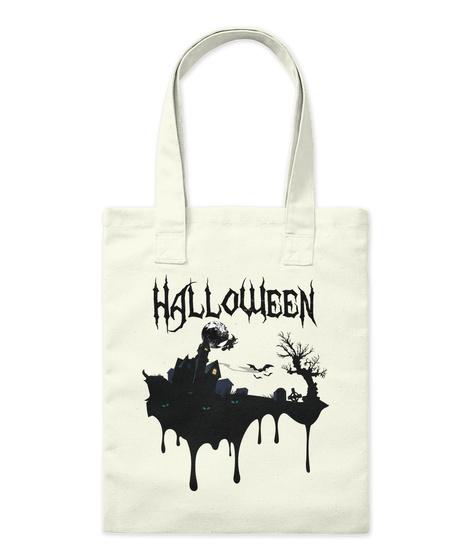 Scary Halloween (No.1) Mug And Bag Natural T-Shirt Front