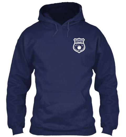Grammar Police Navy T-Shirt Front