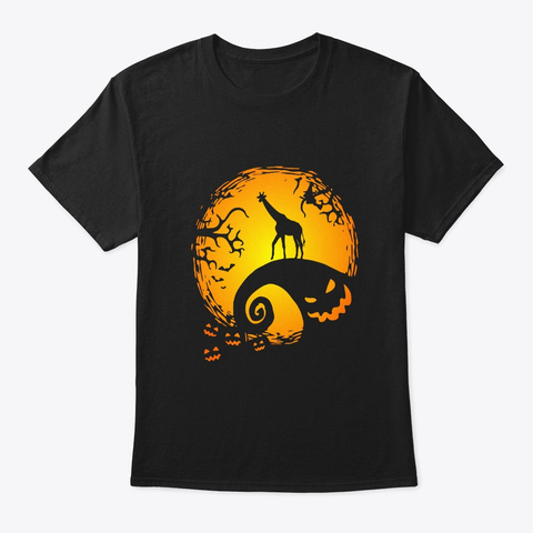 Giraffe Lovers Halloween Gifts This Is  Black T-Shirt Front