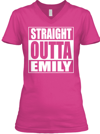 Straight Outta Emily Berry T-Shirt Front