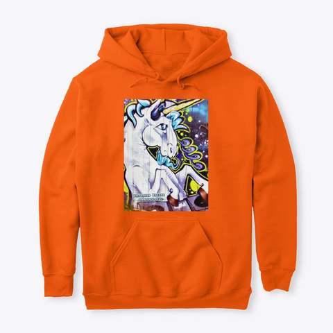 Jimmyinspaz Zz Graffiti Art Safety Orange Sweatshirt Front