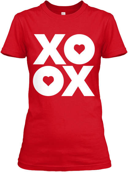 Xoox Red Women's T-Shirt Front