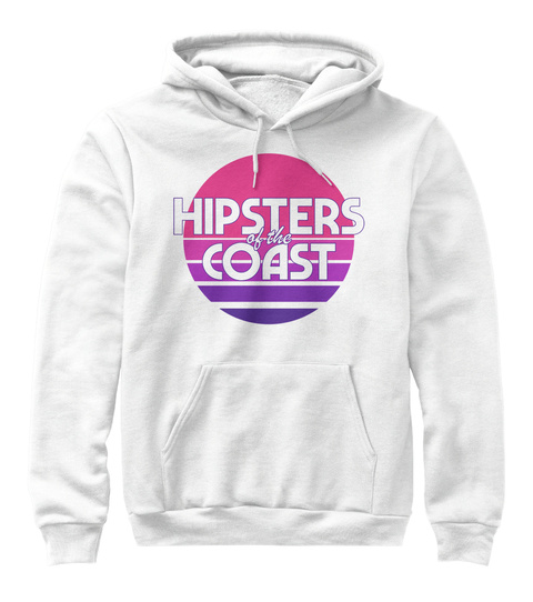 Hipsters Of The Coast Sunset Sweatshirt White Sweatshirt Front