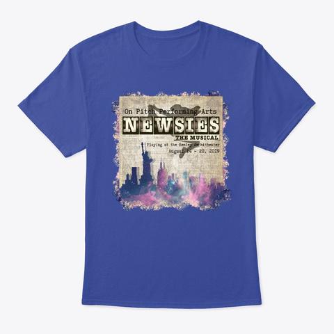 Newsies Deep Royal T-Shirt Front