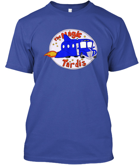 Police Bus Deep Royal T-Shirt Front