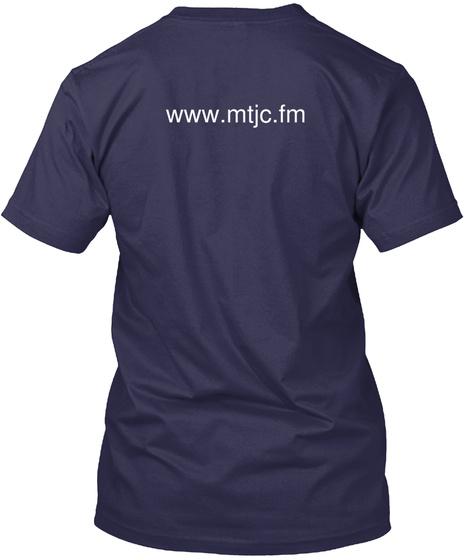 Www.Mtjc.Fm Navy T-Shirt Back