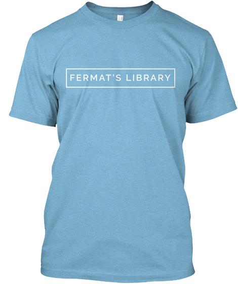 Fermat's Library Aqua T-Shirt Front