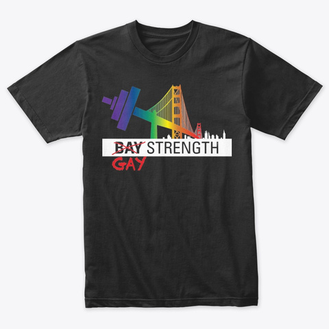 Gay Strength Vintage Black T-Shirt Front