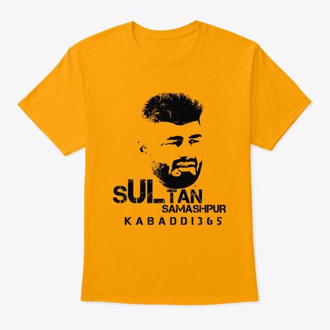 Kabaddi365 Sultan Tee Gold T-Shirt Front