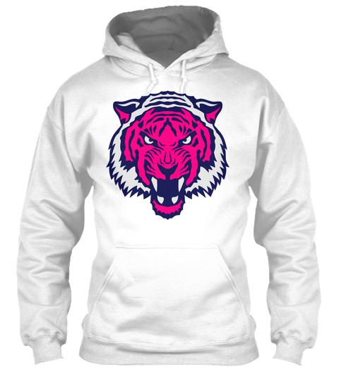 Wild Animal Tiger Logo 107 White T-Shirt Front