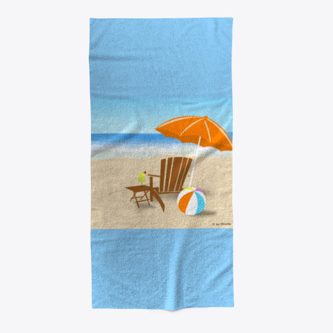 The Beach Collection Light Blue T-Shirt Front