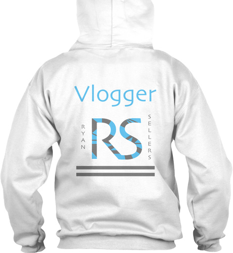 Vlogger Rs Ryan Sellers White Sweatshirt Back