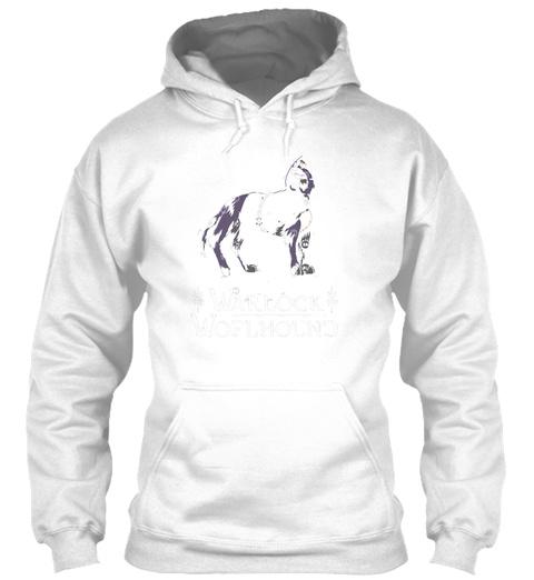 Warlock Wolfhound White T-Shirt Front