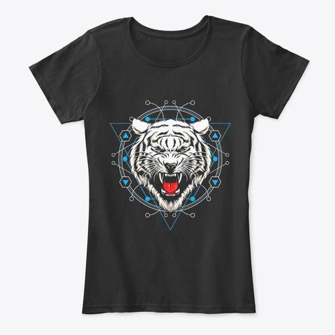 Tiger Lover | White Tiger Sacred Black T-Shirt Front