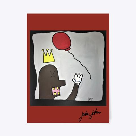 "'bekaws Of Banksquiat"" Dark Red T-Shirt Front"