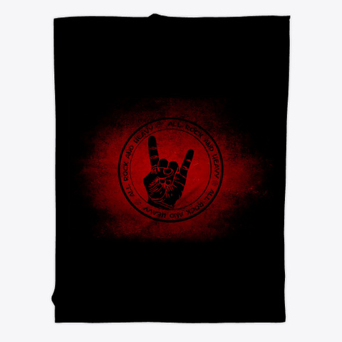 All Rock And Heavy Blanket Black T-Shirt Front